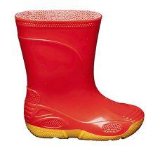 Гумові чоботи VIVID червоні на жовтій підошві