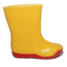 Дитячі гумові чоботи VIVID жовті на червоній підошві