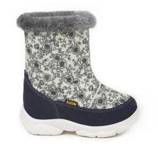 Дитячі зимові чоботи TOY, сірі квіти