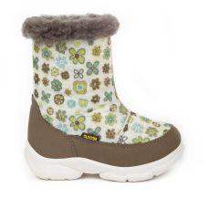 Дитячі зимові чоботи TOY, зелені квіти