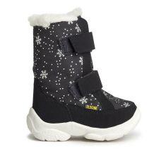 Дитячі зимові чоботи ALASKA чорні зі сніжинками