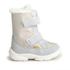 Дитячі зимові чоботи ALASKA бежеві зі сніжинками