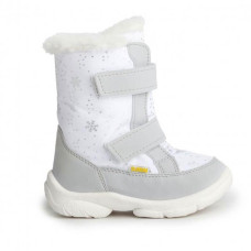 Дитячі зимові чоботи ALASKA білі зі сніжинками