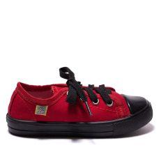 Кеди дитячі CLASSIC червоні на чорній підошві