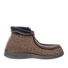 Тапочки Hommy коричневі на чорній підошві