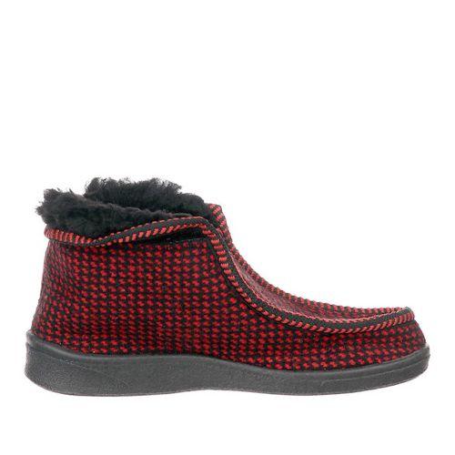 Тапочки Hommy червоні на чорній підошві